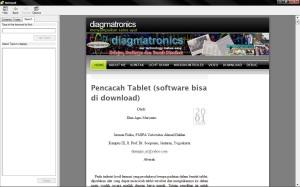 Blog diagmatronics dibuka melalui Help Topics