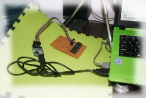 Menghubungkan K-51 ke Hardware Target dan ke USB Laptop