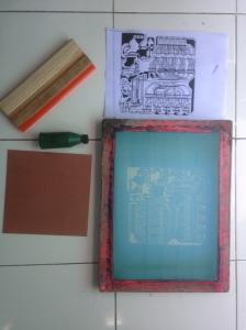 Gambar 1 Peralatan dan bahan pembuat PCB