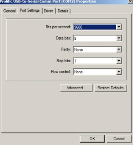 Gambar 3. Port Setting untuk mengubah posisi COMM Port